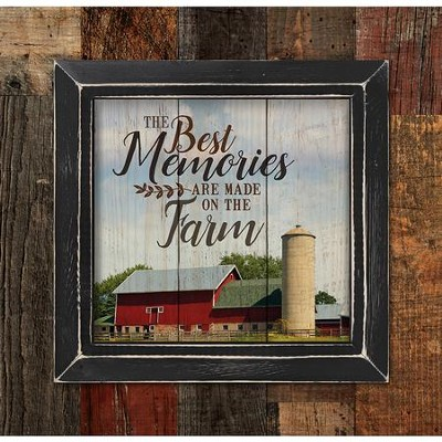 The Best Memories Are Made On the Farm, Framed Pallet Art  -