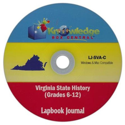 Virginia State History Lapbook Journal PDF CD-ROM  -     By: Cyndi Kinney