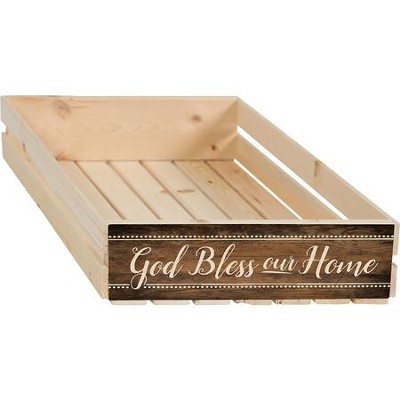 God Bless Our Home Crate  -