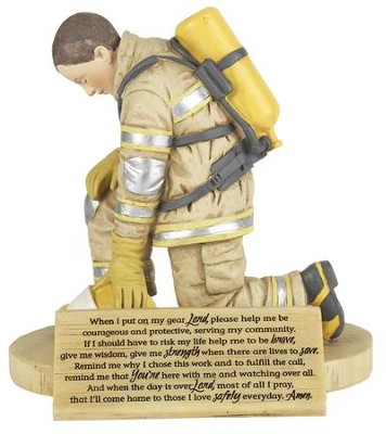 Firefighter's Prayer Figure  -