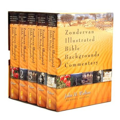 Zondervan Illustrated Bible Backgrounds Commentary Old Testament, 5 Volumes - Slightly Imperfect  -