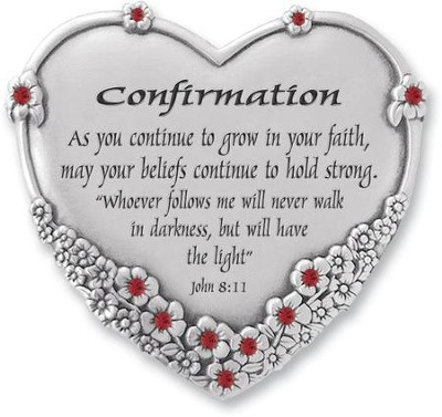 Confirmation Heart Plaque, John 8:11  -