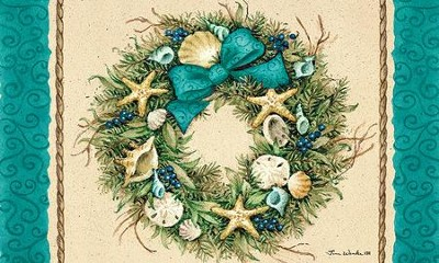 Coastal Wreath Door Mat   -     By: Tina Wenke