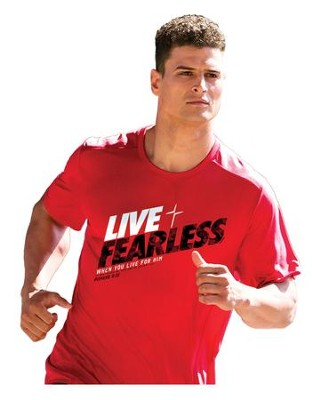 Live Fearless Shirt, Red, Large  -