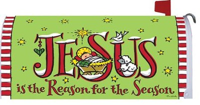 Jesus Is the Reason For the Season Mailbox Cover  -     By: Tina Wenke