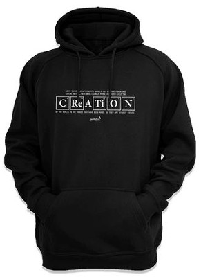 Creation Hooded Sweatshirt, Black, Small  -