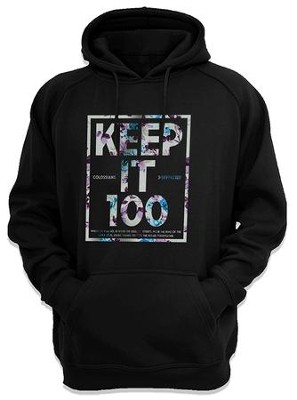 Colossians 3:17 Hooded Sweatshirt, Black, Small  -