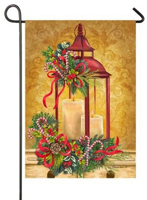 Christmas Lantern Flag, Small  -     By: Mary Lou Troutman
