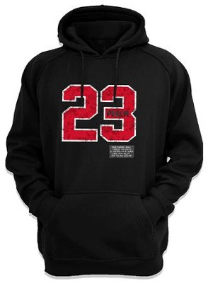 Psalm 23 Hooded Sweatshirt, Black, Small  -