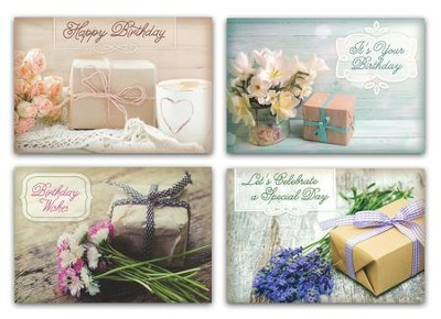 Pretty Packages Birthday Cards KJV Box Of 12