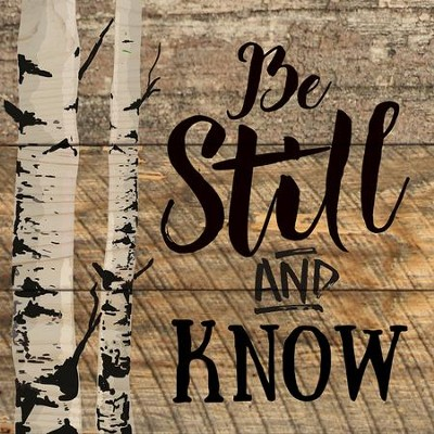Be Still and Know Coaster, Small  -