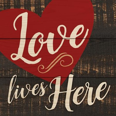 Love Lives Here Coaster, Small  -
