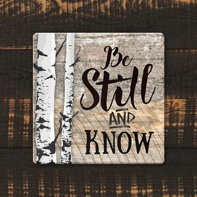 Be Still and Know Coaster, Large  -