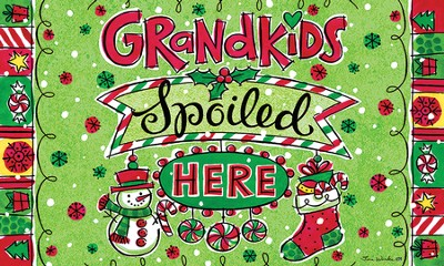 Grandkids Spoiled Here, Christmas Door Mat   -     By: Tina Wenke