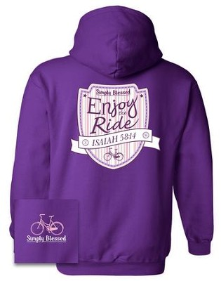 Enjoy The Ride Hooded Sweatshirt, Purple, X-Large  -