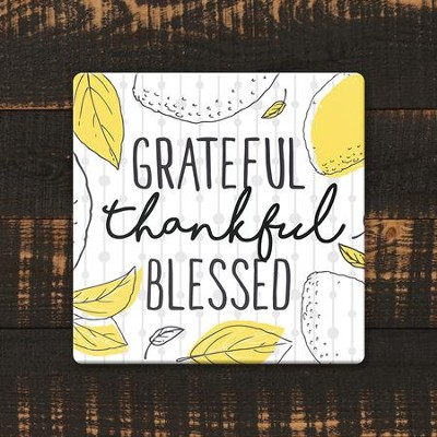 Grateful, Thankful, Blessed Coaster, Large  -
