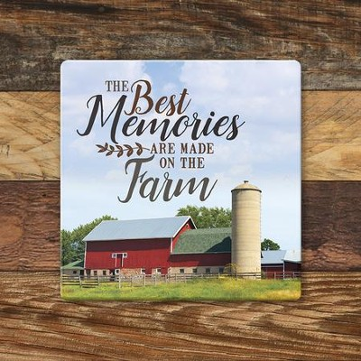 The Best Memories Are Made On the Farm Coaster, Large  -