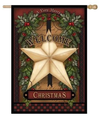Christmas Star Flag, Large  -     By: Carrie Knoff