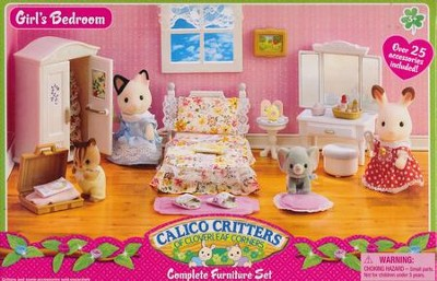 Calico Critters Girls Lavender Bedroom   -