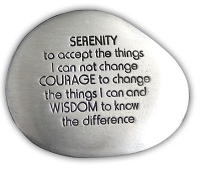Serenity Prayer Pocket Stone  -