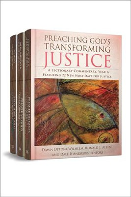 Preaching God's Transforming Justice, Three-Volume Set: A Lectionary Commentary  -     Edited By: Dawn Ottoni-Wilhelm, Ronald J. Allen, Dale P. Andrews     By: Ronald J. Allen, Dale P. Andrews & Dawn Ottoni-Wilhelm