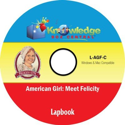 American Girl: Meet Felicity Lapbook PDF CD-ROM  -     By: Candie Donner