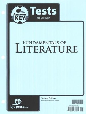 BJU Fundamentals of Literature Grade 9 Tests Packet Answer Key  (Second Edition)  -
