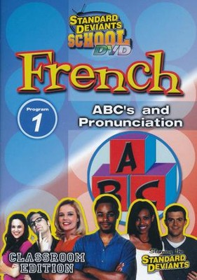 Standard Deviants School, French Program 1: ABC's and Pronunciation, DVD  -