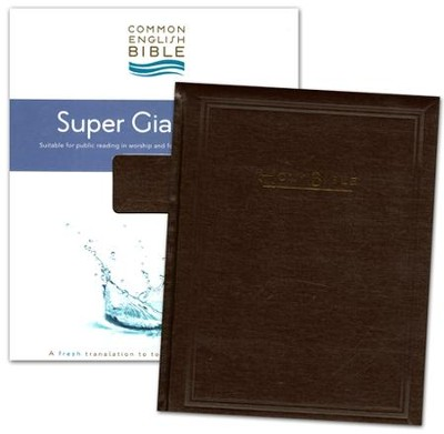 CEB Super Giant Print Padded Brown Hardcover  -