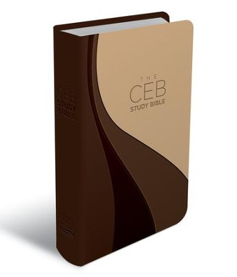 CEB Study Bible--soft leather-look, brown/tan  -