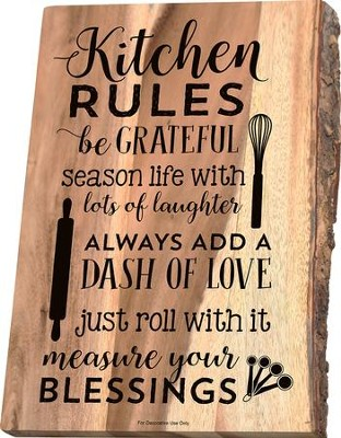 Kitchen Rules Cutting Board  -