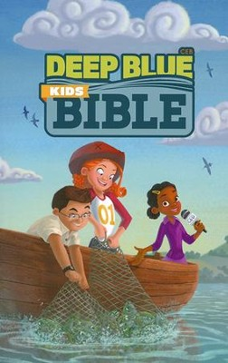 CEB Common English Deep Blue Kids Bible Bright Sky Paperback  -