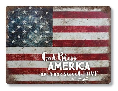 God Bless America Metal Sign  -