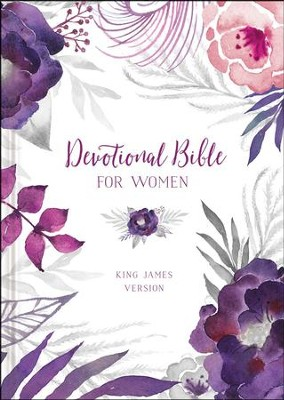 KJV Devotional Bible for Women, floral  -