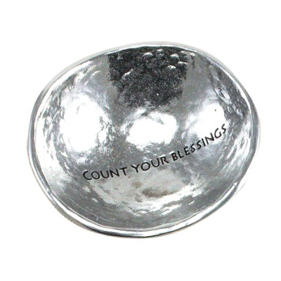Count Your Blessings, Jewelry Dish, Silver  -