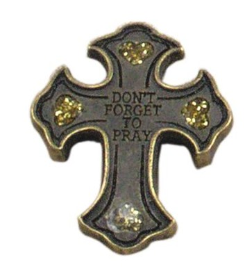 Don't Forget to Pray, Cross Token, Gold  -