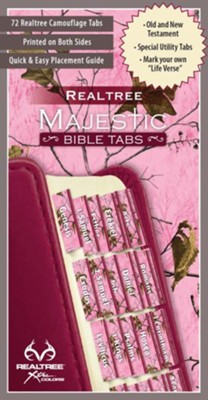 RealTree Bible Tabs Pink Camo   -