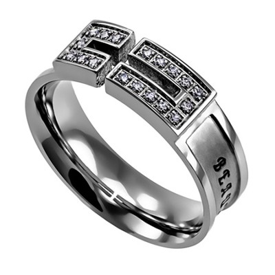Ashes, Canale Women's Ring with Cubic Zirconium, Size 5 (Isaiah 61:3)  -