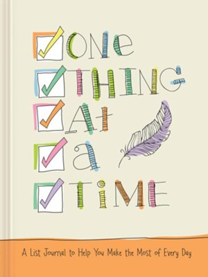 One Thing at a Time: A List Journal of Blessings, Plans, and Favorite Things  -