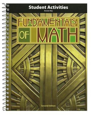 BJU Fundamentals of Math Grade 7 Student Activity Manual  Teacher's Edition, Second Edition  -