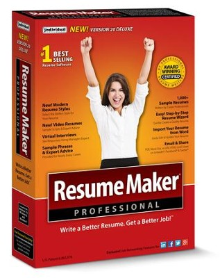 resumemaker professional deluxe 20 cd rom