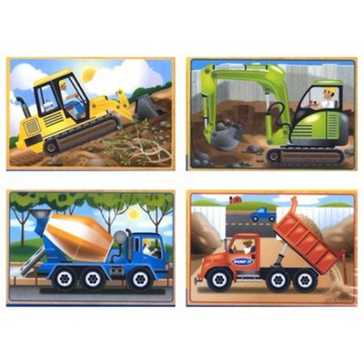 Construction in a Box, Jigsaw Puzzle Set   -     By: Melissa & Doug
