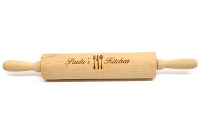Personalized, Wooden Rolling Pin, with Kitchen Utensils   -