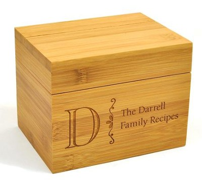 Personalized Wooden Recipe Box Family