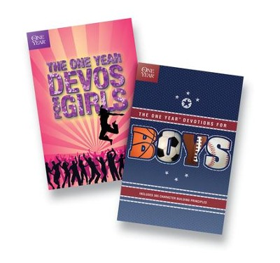 One Year Book of Devotions for Girls and Boys Set, 2 Volumes   -