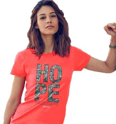 Hope Paisley Shirt, Coral, Large  -