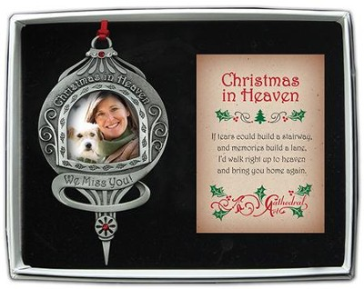 Christmas In Heaven, Photo Ornament  -
