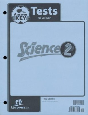 BJU Science Grade 2 Test Packet Answer Key (Third Edition)    -