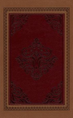 KJV Study Bible (DiCarta Antique) Brown/Burgundy Simulated Leather  -