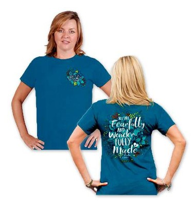 Fearfully and Wonderfully Made Shirt, Blue, XXX-Large  -